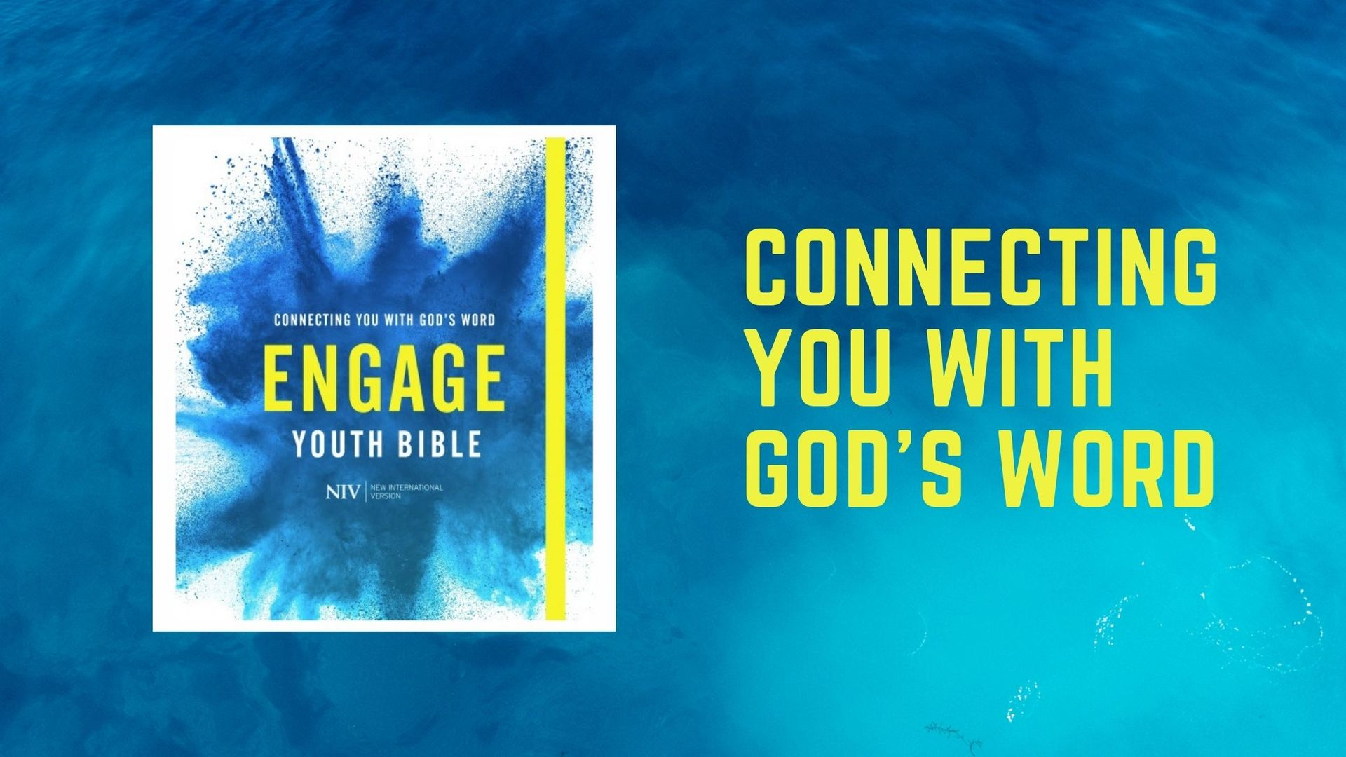 New NIV Youth Bible ENGAGE