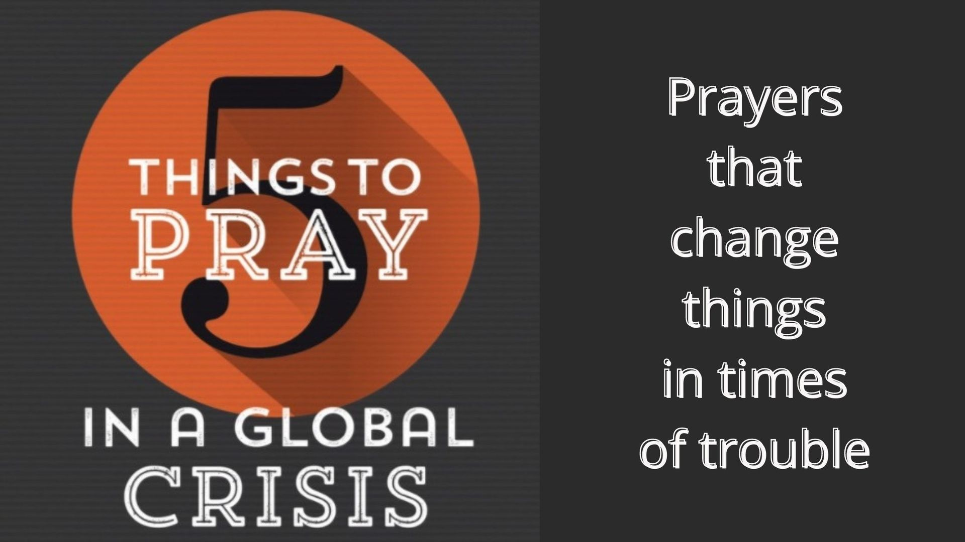 5 Things to Pray in a Global Crisis - a book written during the COVID-19 pandemic