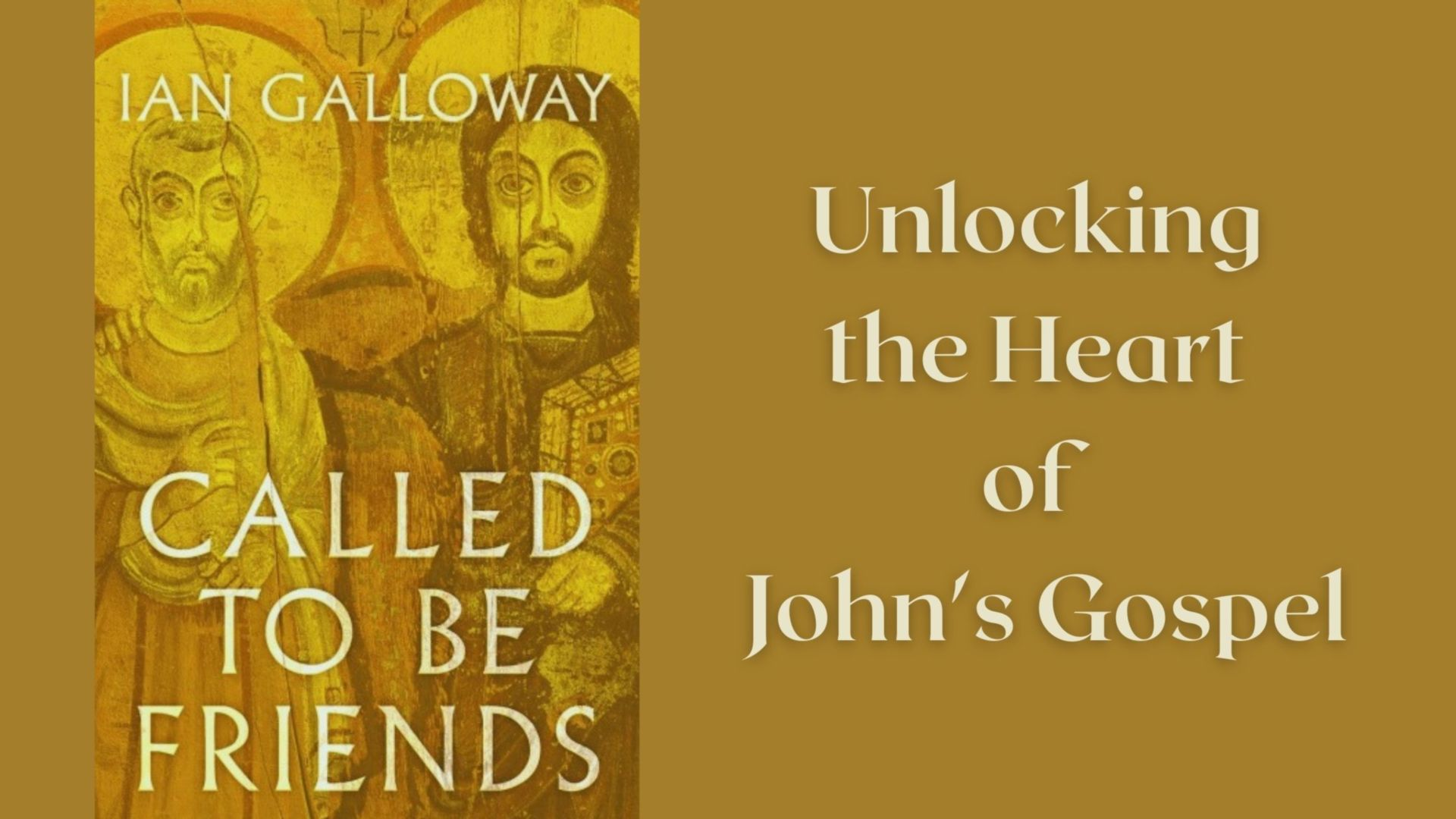Ian Galloway talks about his new book 'Called to be Friends'