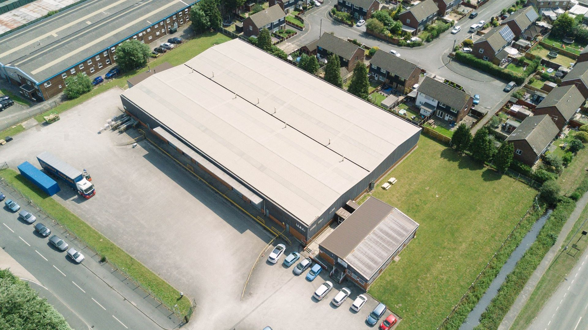 Aerial view of the KCLCT Warehouse